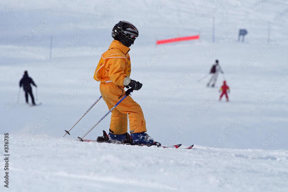 sport zimą śnieg - powiększenie