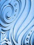 abstract blue spiral background poster