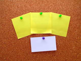 blank post-it business card