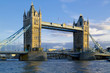 tower bridge, evening light, blue sky
