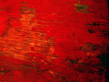 abstract texture - faded red stain on wood poster