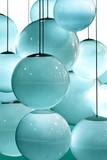 abstract pattern of blue lightbulbs - 381553