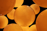 abstract pattern of orange circles poster