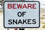 beware of snakes poster