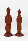 king and queen chinese chess pieces poster
