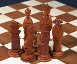 carved chinese chess set - black pieces poster