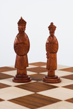 chinese chess set black king and queen poster