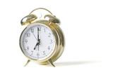 gold alarm clock poster