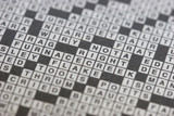 crossword puzzle poster