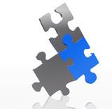 balancing puzzle pieces poster