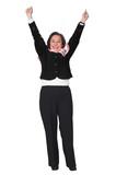 business success - woman poster