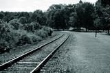 railroad track poster