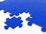 blue puzzle poster