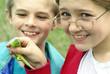 children with lizard