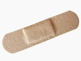 adhesive bandage on white background poster