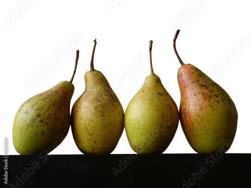 still life with four pears