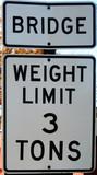 bridge warning poster