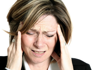 businesswoman migraine