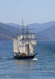 tall sailing ship poster