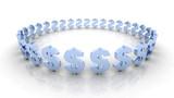dollar circle - blue poster