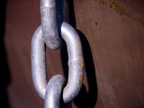 chain link - rusted metal poster