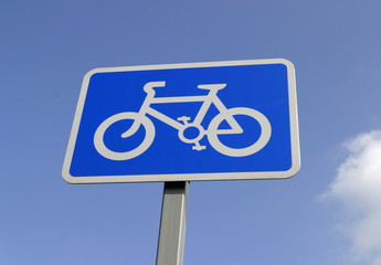 sign, cycle path