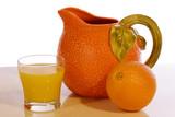 orange juice pitcher poster