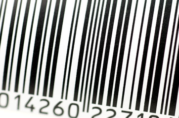 barcode in close up