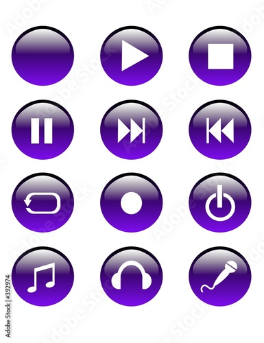 purple audio buttons