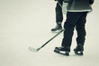 Постер, плакат: the hockey players old style