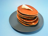 pancakes stack on a plate poster