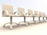 row of office chairs poster