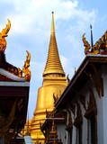 in thailand architecture style / wat prakaew poster