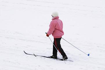 senior skier