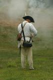 colonial militiaman--revolutionary war reenactment