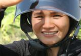female biker poster