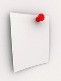 sticky note - red pin poster