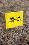 yellow gas warning poster