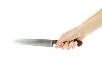 large knife in hand