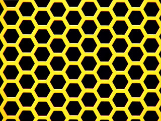 yellow hexagonal background - horizontal