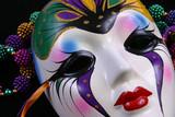mardi gras mask closeup poster