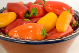 a bowl of colorful sweet peppers 2 poster