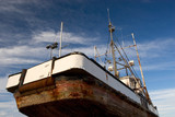 fishing boat, dry dock poster