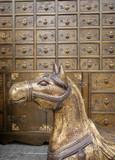 bronze antique horse poster