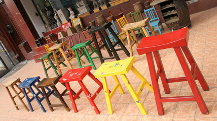 colorful furniture