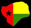 carte de le guinée-bissau sur fond noir