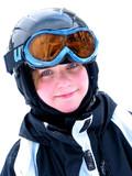 girl ski smile poster