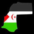 carte du sahara occidental sur fond noir