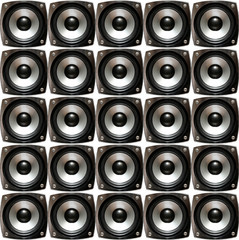 array of small speakers