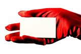 blank card & red glove poster